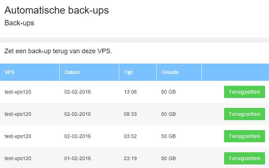 VPS backups
