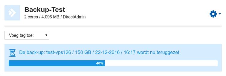 vps backup progressbar