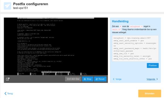 VPS Mailcluster configuratie