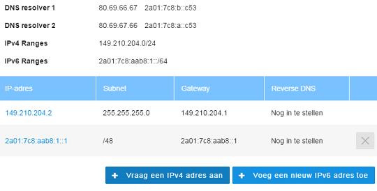 Bestel extra IPv4-adres controlepaneel
