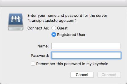 Vul hier je STACK gebruikersnaam en wachtwoord in