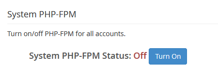 whm enable php fpm