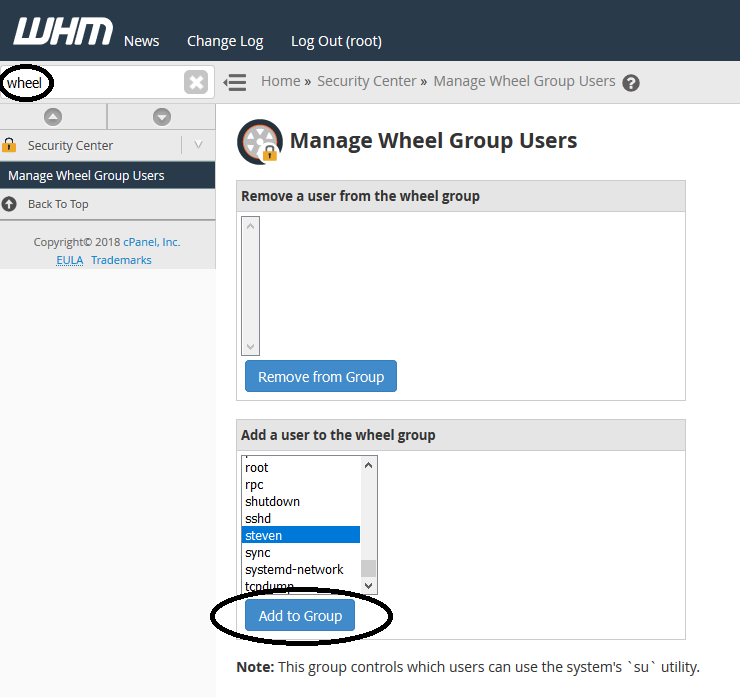 whm wheel group users