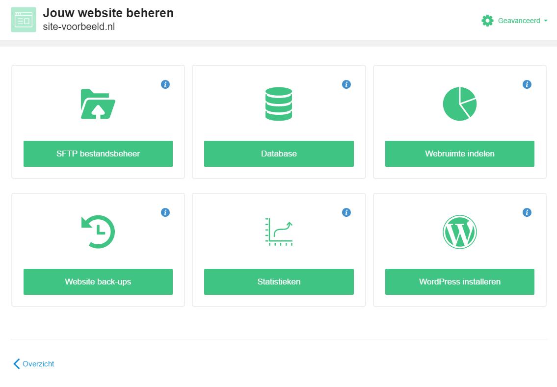 Klik op 'WordPress installeren'