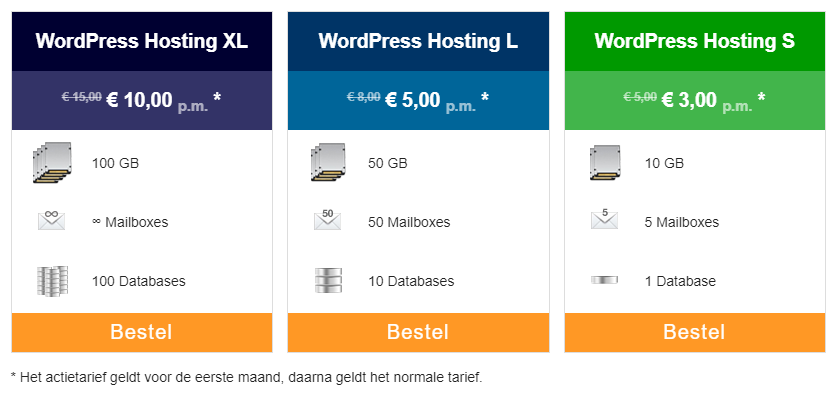 Kies je WordPress Hosting pakket