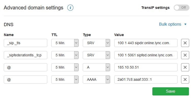advanced domain settings