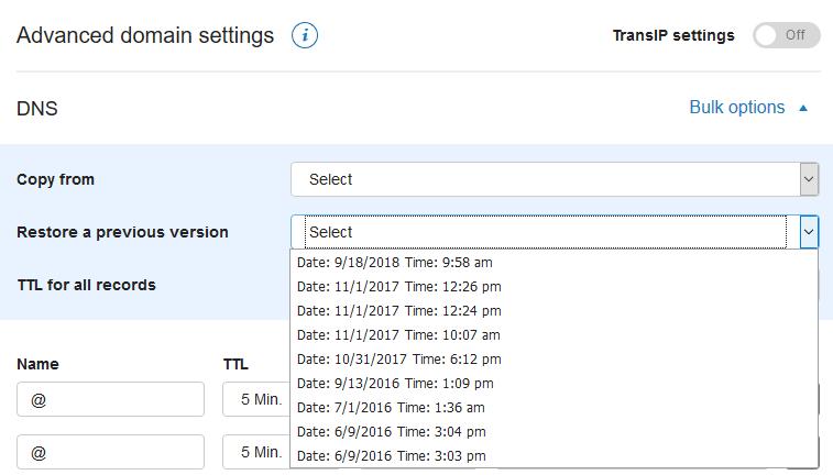 restore previous dns settings