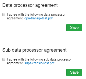 Data Processor agreement in your control panel
