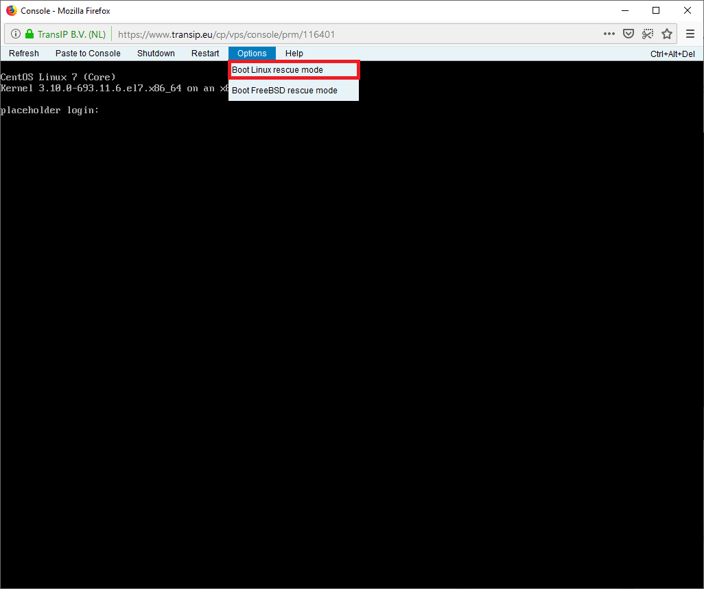 cp vps console
