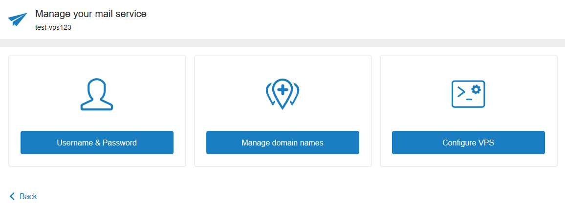 manage vps mailservice