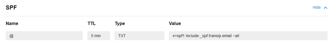 vps mailservice x-auth-record