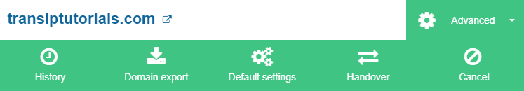 click on default settings