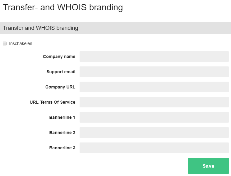overview of transfer and whois branding