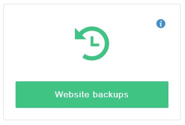 click on website backups