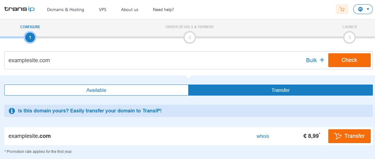 transip transfer site