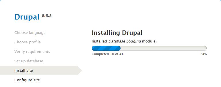 drupal installing