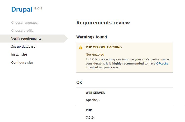 drupal requirements review