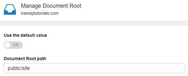 DocumentRoot in a lower folder