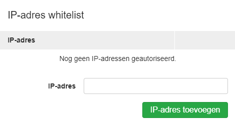 ip-adres whitelist