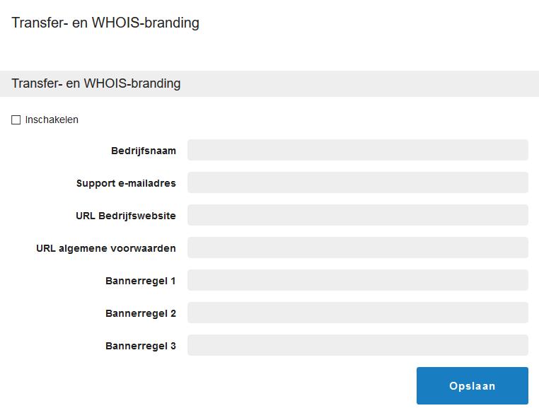 transfer whois branding