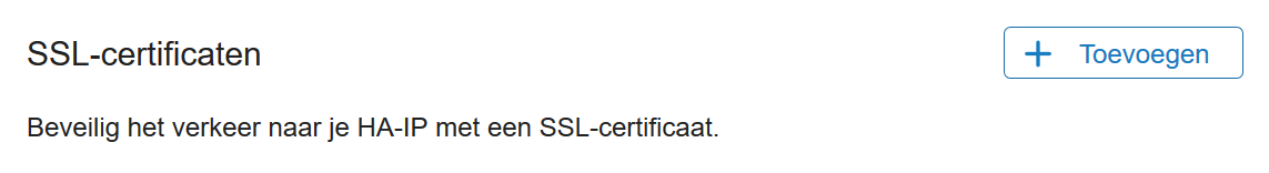 ha-ip ssl-certificaten