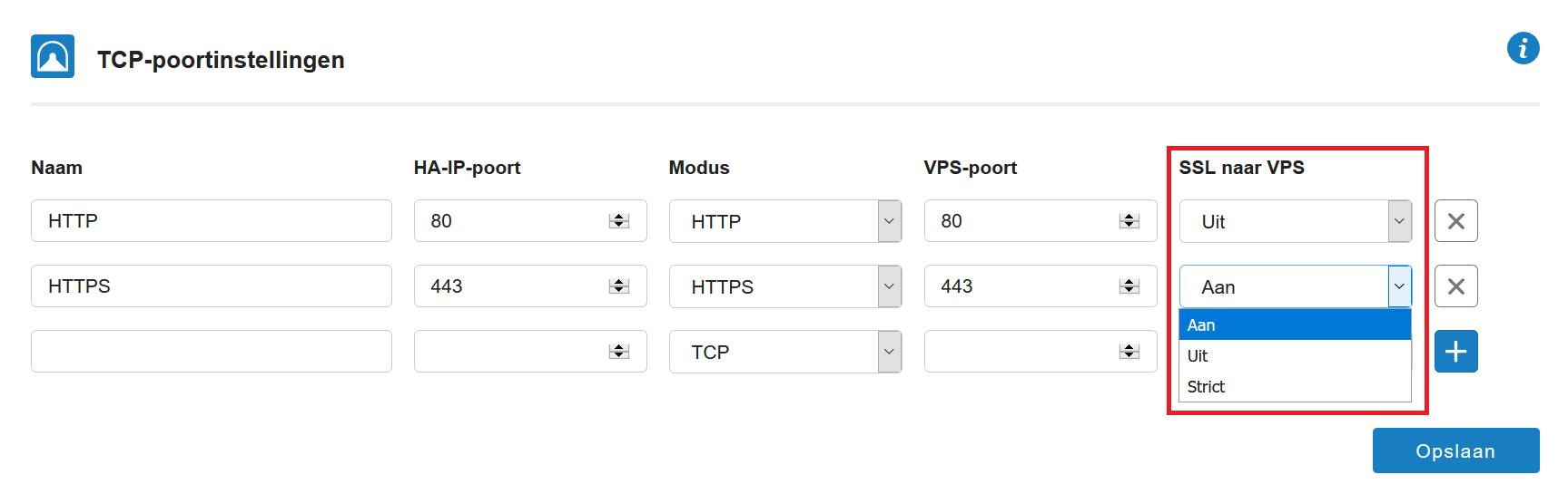 ha-ip SSL-instellingen