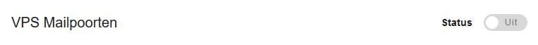 vps mailpoorten uit