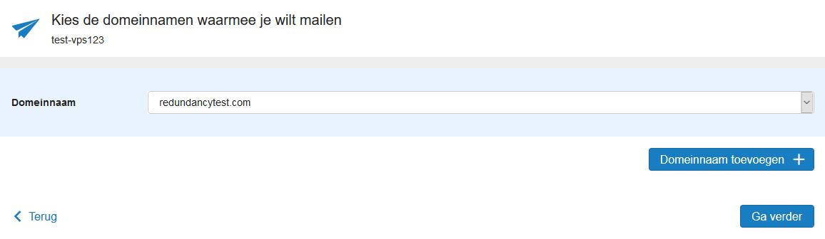 mailservice kies bestaande domeinnaam