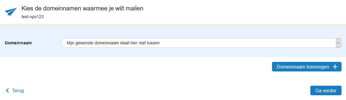 vps mailservice kies domeinnaam