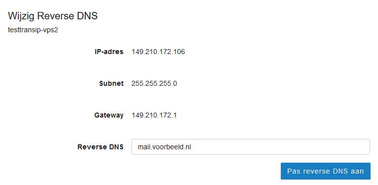 afbeelding reverse DNS instellen