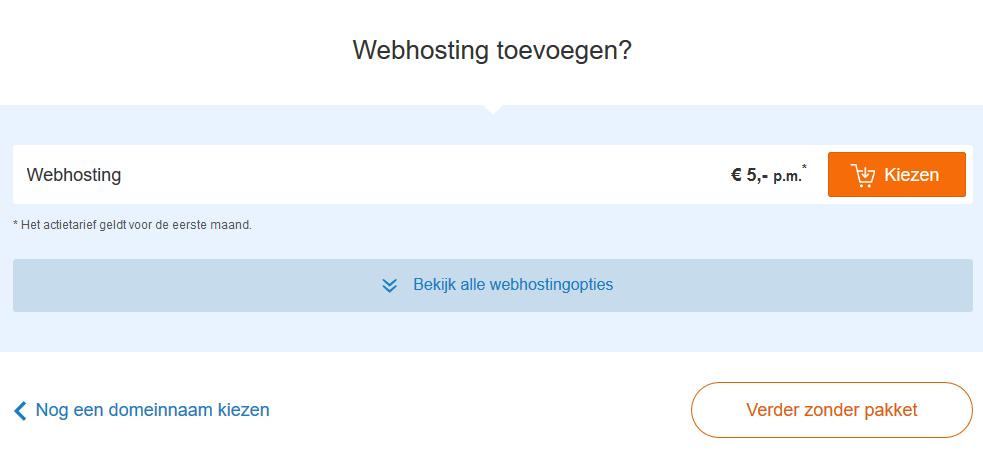 domein verhuizen - webhostingspakket bestellen