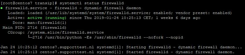 centos 7 firewalld status