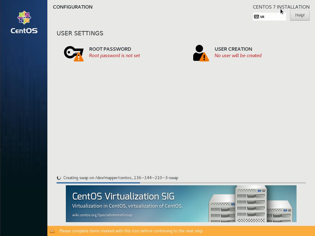 centos7 installation configuration