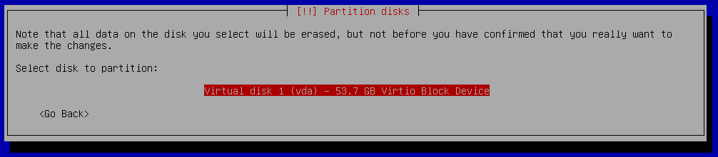 debian 9 installation select disk to partition
