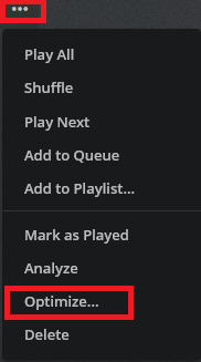 plex optimize