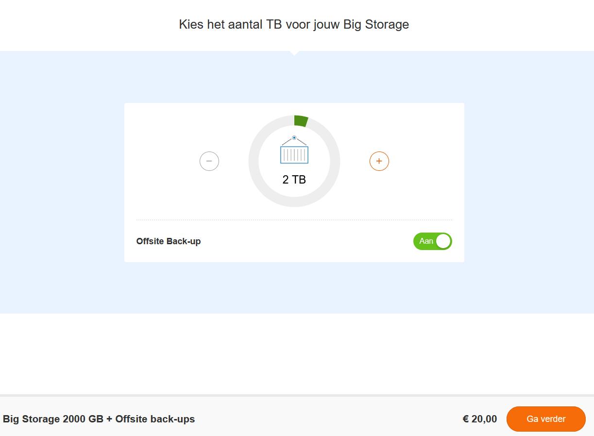 transip big storage bestellen