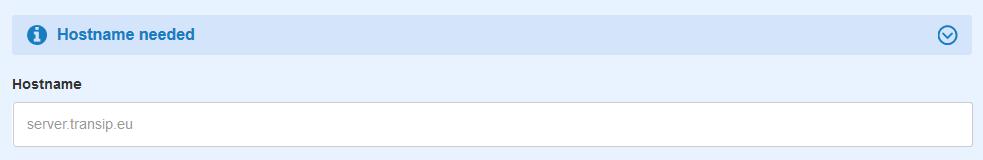 transip hostname required