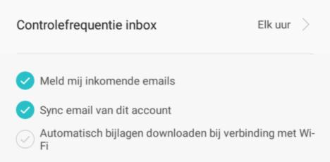 Account instellen