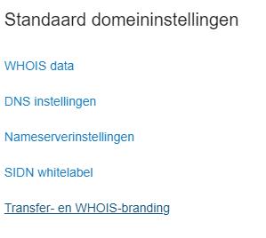 standaardinstellingen