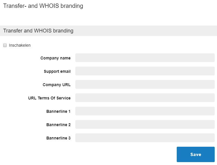 transfer and whois branding