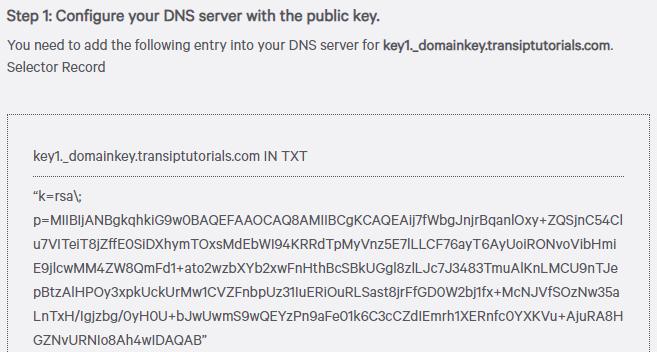 Setting a DKIM record | TransIP