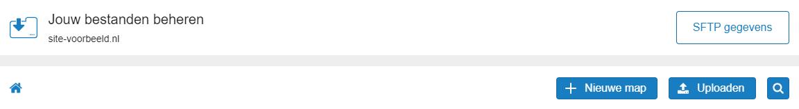 Klik op het tandwiel en hierna op 'SFTP gegevens'