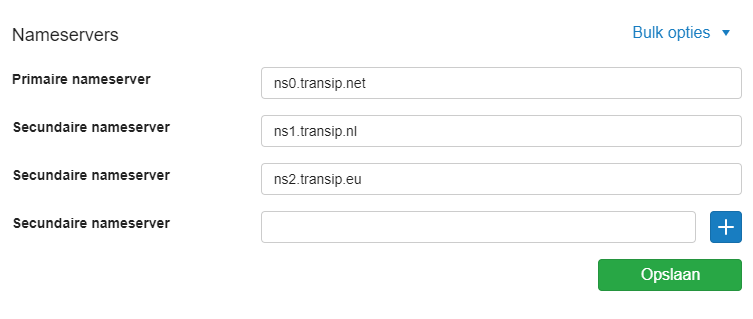 De TransIP nameservers