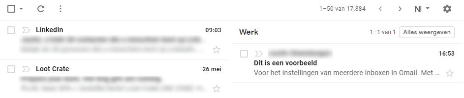 meerdere inboxen in Gmail