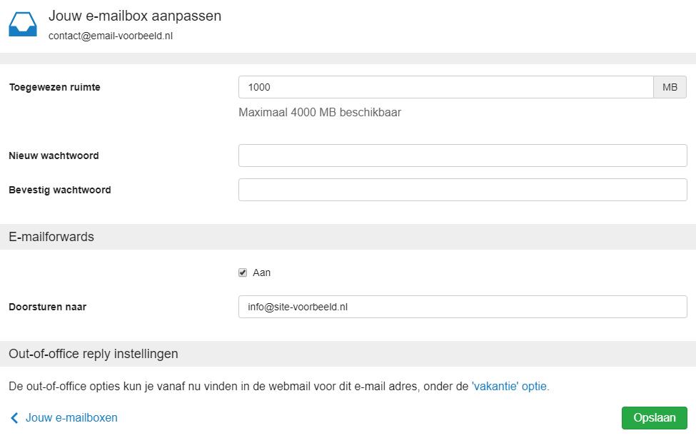 ik wil mijn e-mail doorsturen naar één of meerde… | transip