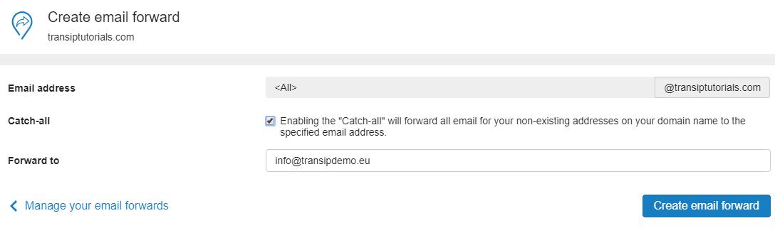 configure a catch-all