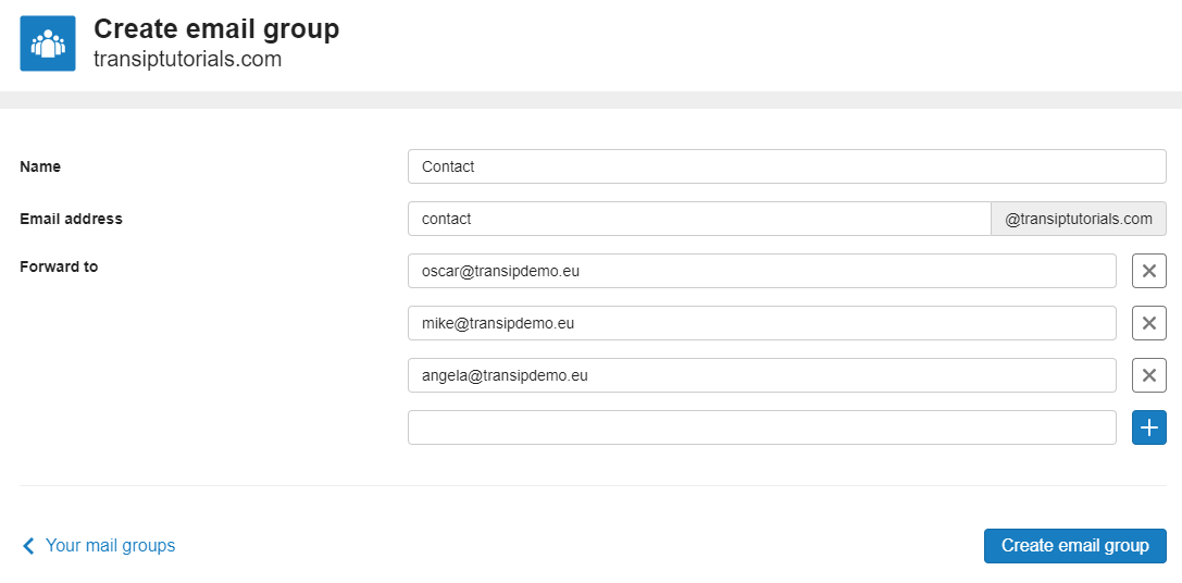 create mail group