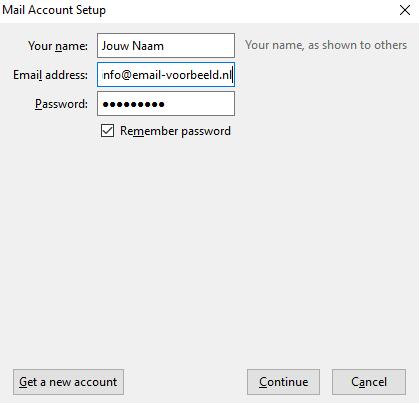 email setup klaar