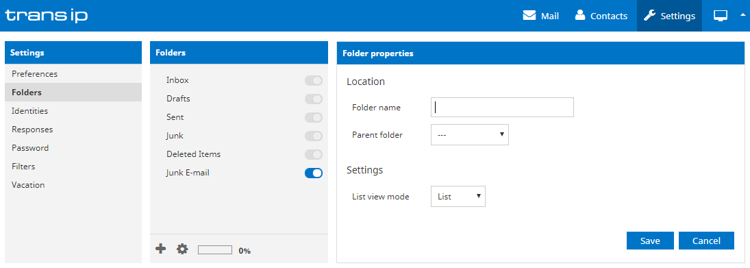 create new folders