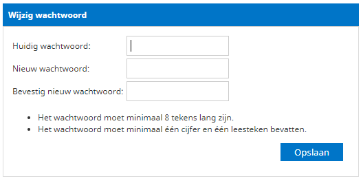 wijzig je wachtwoord